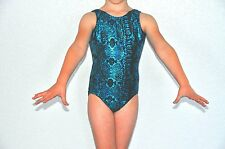 Motionwear Blue and Black Gymnastics Leotard - Girls Leotard
