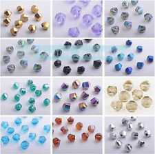 10mm Faceted Crystal Findings Glass Loose Spacer Twisted Beads 12/20/30/50pcs