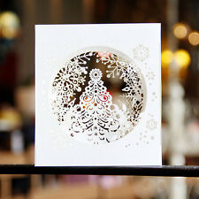 3d Pop up Christmas Card Handcrafted Snow Flake Greeting Cards