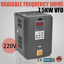 7.5KW 10HP VFD 1 OR 3 PHASE 220V 34A VARIABLE FREQUENCY DRIVE INVERTER CE
