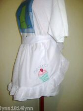 1/2 APRONS WITH CUPCAKE APPLQUE & OVERLACE TRIM MANY COLORS M2O C STORE 4 IDEAS