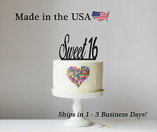Sweet 16 Cake Topper, Teen Party, Cake Toppers, Acrylic, Birthday Party, LT1004