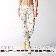 $90 adidas STELLA SPORT McCartney Women 7/8 Run Climalite® Tights LOGO Pants M L