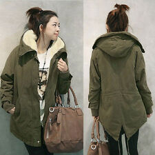 Fashion Womens Winter Warm Outwear Coat Hooded Thick Coat Jacket Cotton Blend