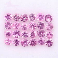 BEAUTIFUL LOT! 1.07CT/24p ROUND 2.0mm TOP DIAMOND CUT NATURAL PINK SAPPHIRE #13