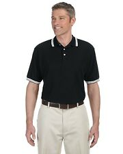 Chestnut Hill Mens Tipped Performance Polo Shirt Big Sizes Only
