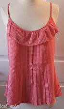 ~Gap ~Women Pink Ruffled Adjustable Strap Cami/Tank Top~Size XS,S~NWT