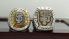 2PCS 2010 2014 San Francisco Giants MLB world series championship ring 8-14 Size