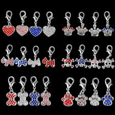 4/6pcs Rhinestone Dog Tags for Dog Collars Cat Pet Pendants Grooming Accessories