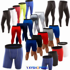 Men Boy Compression Skin Base Layer Underwear Athletic Long Pants Legging Short