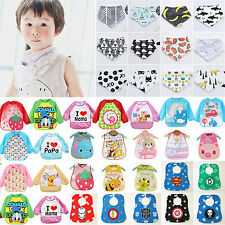 Baby Kid Toddler Infant Boy Girls Bibs Children Waterproof Saliva Towel Feeding