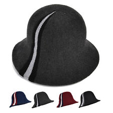Elegant Womens Wool Blend Bucket Hat Ladys Formal Wedding Church Dress Hat