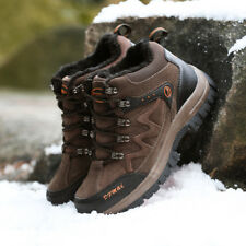 GOMNEAR lover Big Size Fur Lined hiking boots sport non slip trail outdoor shoes