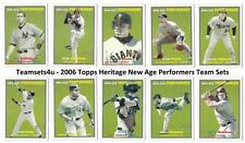 2006 Topps Heritage New Age Performers Baseball Team Sets * Pick Your Team Set *