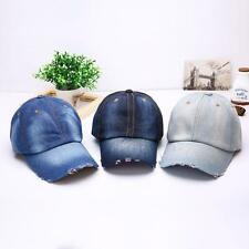 Vintage Style Unisex Casual Sports Hat Denim Baseball Ball Cap Sun Plain Hats