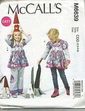 MCCALLS 6639  CHILDRENS GIRLS TOPS AND PANTS SEWING PATTERN