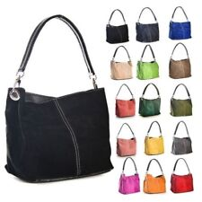 Big Handbag Shop Womens Mini Real Suede Leather Single Strap Hobo Slouch Bag