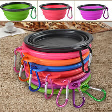 New Silicone Folding Bowl Pet Dog Food Feeding Water Feeder Travel Portable Bowl