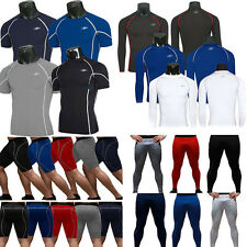 Men's Compression Base Layers T-Shirts Tops Gym Sport Gear Cycling Legging Pants