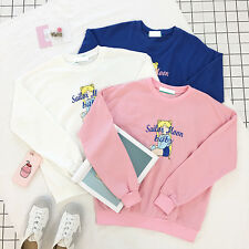 Women's Sweater Girl's Anime Sailor Moon Costume Pink White Blue Casual Sweater