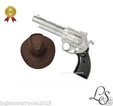 Pistol Gun Set & Cowboy Stetson Hat Wild West Cowboy Fancy Dress Costume New