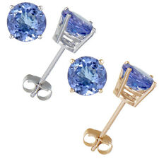 14K Gold Tanzanite Stud Earrings (1.50 CT)