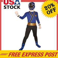 Power Rangers costume kids Samurai cosplay children Boys Halloween Bodysuit blue
