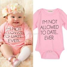 Toddler Baby Girl Long Sleeve Letter Print Romper Jumpsuit Bodysuit Outfit 0-18M