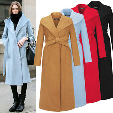 Women Casual Overcoat Slim Fit Wool Blend Long Sleeves One Button Coats Jackets