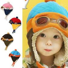 Winter Warm Cap Hat Baby Boys Girls Toddler Kids Pilot Earflap Soft Hat 6M-4Y