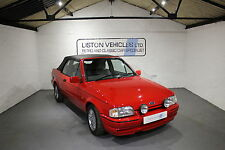 FOR SALE: 1990 FORD ESCORT XR3i RED CONVERTIBLE