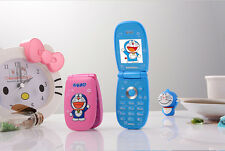 2016 Doraemon Flip Cute Small Mini Mobile Cell Phone Best For Kids Girls