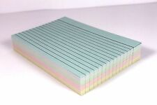 "100 LINED 6"" X 4"" ASSORTED REVISION RECORD INDEX FLASH CARDS CONTAINS 4 COLOURS"