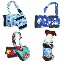 LOT - 3pcs Dog BELLY BAND Wrap Diaper Male Washable SOFT Fleece SUSPENDERS XS -L