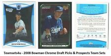2008 Bowman Chrome Draft Picks & Prospects Baseball Sets ** Pick Your Team Set *