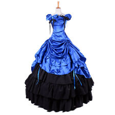 Belle Gown Victorian Prom Lolita Satin Dress Theater Reenactment costume cosplay