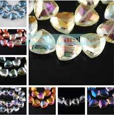 New 2/10/20pcs 18x18mm Glass Crystal Jewelry Findings Faceted Loose Spacer Beads
