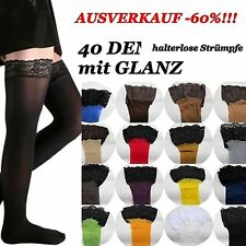 60% SALES 40 DEN Hold - Ups with LACE SZ. S-XXXL Colours Glossy