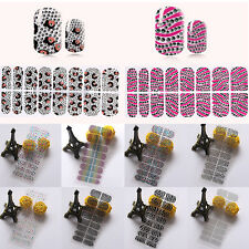 16pcs Sexy 3D Nail Art Crystal DIY Stickers Wraps Decal Decoration Beauty Gift