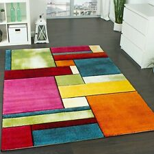 Stylish Quality Rug Multi Coloured Soft Living Room Carpet Large Woven Thick Mat