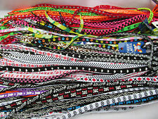 WHOLESALE LOT 25x PAIRS MIXED FLAT SHOE SNEAKER TRAINER LACES ANIMAL SMILEY CAMO