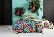 NEW Alpha quilt cover set by Kas - cotton geometric bedding bed linen