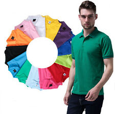 Cotton Polo Tee Slim Fit Short Sleeve T Shirt Sports T Shirt Casual Men's New