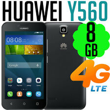 Huawei Y5 Y560 Telstra 8GB Black 4G LTE Bluetooth FM Mobile Phone Smartphone