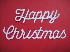 10 Large Happy Christmas Die Cuts, Christmas, X-Cut. Many Colours & Cards