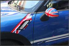 Car fender Side Scuttles Trim Decor Decal ABS Cover For Mini Cooper Countryman S