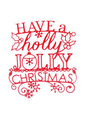 5 Large, Have a Jolly Christmas Die Cuts, Memory Box. Many Colours & Cards