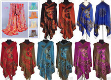 Free Shipping New Lady Double-Side Butterfly Pashmina Scarf Wrap Shawl Cape Hot