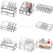 Acrylic Cosmetic Makeup Case Lipstick Brushes Drawer Organizer Stand Rack Holder