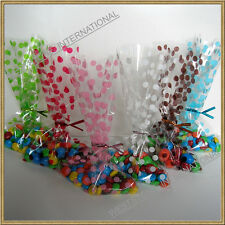 25pcs 5x8 polka dot cello bags